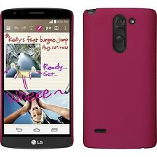 Hardcase for LG G3 Stylus rubberized pink Cover + protective foils