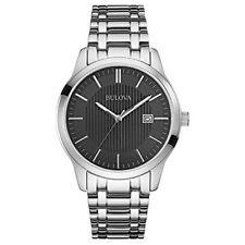 Bulova 96B223 Men's Dress Black Dial Stainless Steel Bracelet Date Quartz Watch