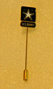 "30 US Army Lapel Stick Pin Gold Black Military Logo Hat Tie Tack 2.5"" x 0.5"" Lot"