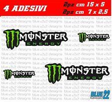 SET 4 ADESIVI AUTO MOTO MONSTER STICKERS KTM SCOOTER YAMAHA HONDA MOTOCROSS