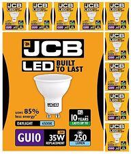 10 X Jcb 3w = 35w Led GU10 100 Degrés 6500k Lumière Jour Spots 250 Lumen
