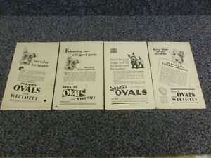4 Spratt's Ovals and Weetmeet Classic Tributes Collectors Cards Advertising