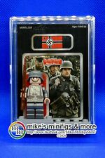WWII GERMAN SOLDIER Custom Carded Minifigure Display Mini-Figure World War II