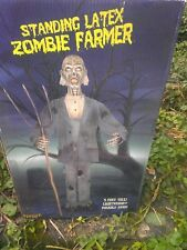 Standing Latex Zombie Farmer 5' Poseable Lightweight by Spirit Displayed Once