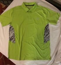 Boy's Polo style shirt LIme Green/gray Size XL 14-16