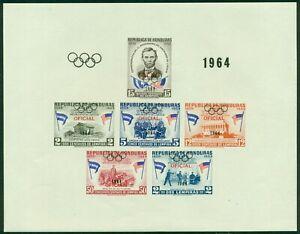 Honduras note after Scott #C335 MNH S/S Tokyo Olympics Abraham Lincoln CV$50+