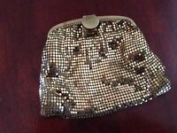 Vintage Whiting & Davis Gold Enameled Mesh Art Deco Ladies Bag Coin Purse