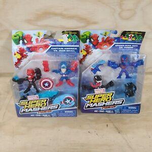 Super Hero Mashers Micro Captain America vs Iron Skull, Spider Man 2099 Venom