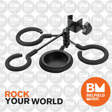 Hercules HA100 Mute Holder, Clamps to Mic Stand