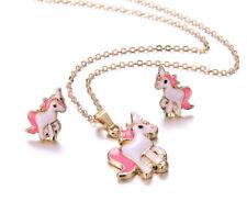 ** Beautiful UNICORN Jewellery Set ** Pendant & Earring Set * Girls Ladies Pony