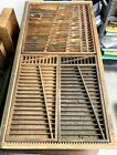 Letterpress full drawer with separators and brass rules
