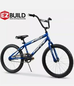 20 Inch Rock It Boys Bike Royal Blue Durable Steel Bicycle Frame 5 To 9 Years