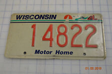 WISCONSIN License Plate Auto Motor Home Tag Man Cave Garage Vintage Blue Back