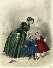 Le magasin des familles Robe Jouet enfant Enfantina Gravure de mode ancienne