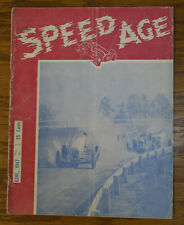 SPEED AGE #2 1947 AUTO RACING MAGAZINE MOTORCYCLES STUNT DRIVER INDY 500 NASCAR
