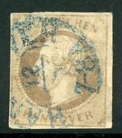 Germany 1861 Hannover 3gr Brown SG # 29 VFU F893