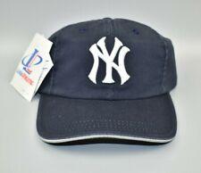 New York Yankees Logo Athletic MLB Vintage 90's Buckle Strapback Cap Hat