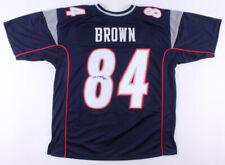 Antonio Brown Signed New England Patriots Jersey (JSA COA) 3xPro Bowl Receiver