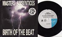 "MASTERS APPRENTICES - BIRTH OF THE BEAT Very rare 1988 OZ 7"" P/S Single Release!"
