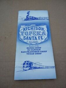 1970 ATSF Santa Fe Railroad Super Chief Brochures Timetables El Capitan Texas