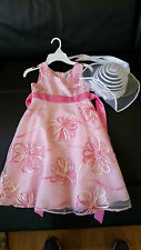 Euc Girls 2 piece Easter Rare Editions Adorable Floral Dress Size 7 and Hat