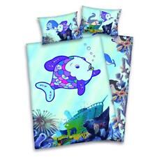 Regenbogen-Fisch Flanell Bettwäsche 40x60 100x135 Kinderbettwäsche Glitzerdruck