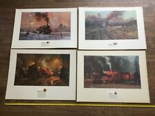 ALAN FEARNLEY STEAM TRAIN PRINTS MOUNTED TO BOARD
