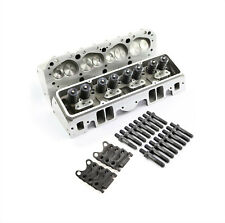 SBC fits Chevy 350 Complete Straight Aluminum Cylinder Heads 190cc 64 Studs G