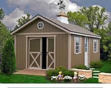 New South Dakota 12'x20' Best Barns SouthDakota1220 Outdoor Wood Shed Barn Kit