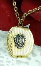 Antique ART DECO Gold Filled Shield Photo Locket or Pocket Watch Fob