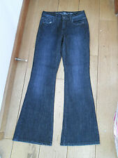 LA REDOUTE ACTIVE WEAR BLUE WASHED RAW FLARED FLARES JEANS 27 WAIST BNWT