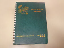 Tektronix Cathode Ray Oscilloscope Type 535 Instruction Manual Vintage