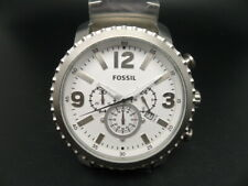 NEW OLD STOCK FOSSIL BQ1653 CHRONOGRAPH DATE STAINLESS STEEL QUARTZ MEN WATCH