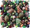 Large Pack of Green Brown Jewellery Making Beads 80g