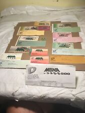 Mbna racing Stubs Vintage Preowned Lot Of 12