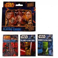 Star Wars Playing Cards Tins Saga Heroes Villians Story Darth Vader Lot of 4