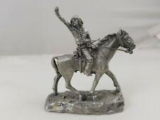 Vintage Rawcliffe Pewter Civil War Miniature Conferedate Soldier on Horseback