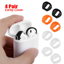 4 Pair Anti Slip Earbud Silicone Cover Case Earphone Tips For Apple AirPods