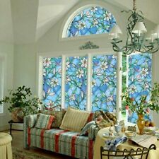 Static Cling Stained Glass Film Window Privacy Sticker Home Office Great US
