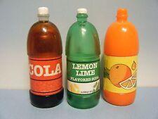Tyco Kitchen Littles Cola & Lemon Lime Soda Plus Barbie Orange Soda Bottles
