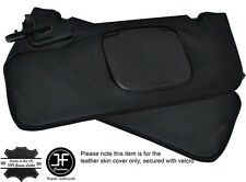 BLACK STITCH 2X SUN VISORS LEATHER COVERS FITS FORD MUSTANG CONVERTIBLE 05-09