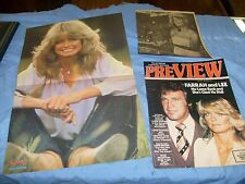 Vintage Farrah Fawcett  Photos from  Magazine sheets clips... mini poster / f5
