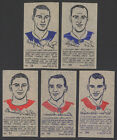 1962-63 YORK IRON-ON TRANSFERS ~ NHL HOCKEY ~CANADIENS MAPLE LEAFS RED WINGS (5)