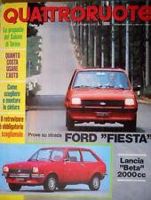 Quattroruote 252 1976 Prova su strada Ford Fiesta. Lancia Beta 2000cc [Q93]