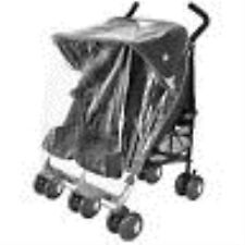 New Universal Maclaren Twin Double Stroller Pushchair Raincover