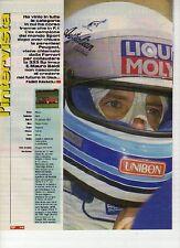 W14 Ritaglio Clipping 1994 intervista Mauro Baldi collaudatore Ferrari 333 SP