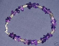 BN AMETHYST PEICES BRACELET WITH TIBETAN SILVER BEADS