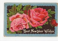 Roses, Best New Year Wishes Postcard, A480