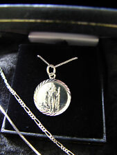 SILVER 925 NECKLACE MENS BOYS CHAIN ST CHRISTOPHER 1.8 SOLID STERLING + CHAIN