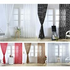 Romantic Leaf Print Tube Curtain Polyester Fabric Living Room Balcony Decor Neo